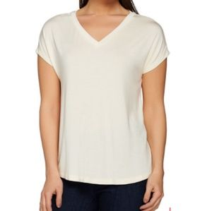 H by Halston Heritage vneck tshirt small